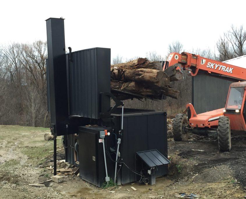 The Log Boiler Top Loading Wood Boiler For Commercial